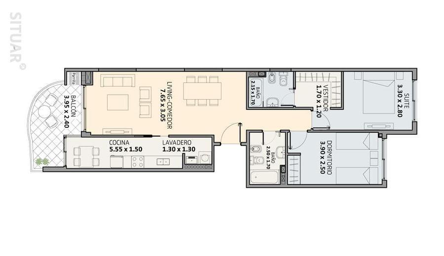 3 ambientes a estrenar pavillon. amenities caballito