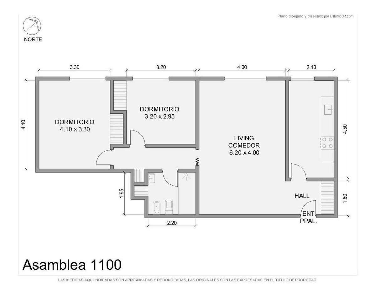 3 ambientes · av. asamblea al 1100 · parque chacabuco