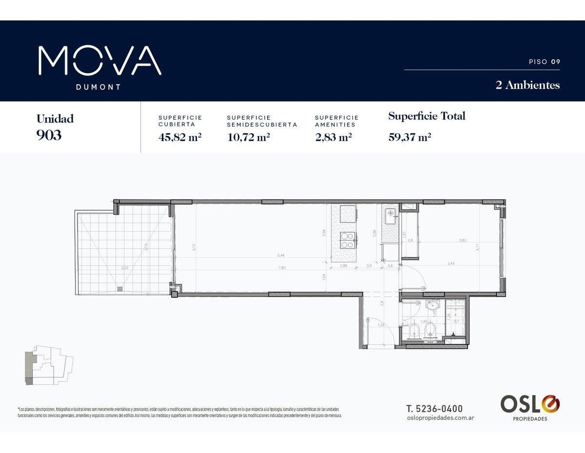 3 ambientes c terraza 123m2 en palermo/colegiales. entrega 2020