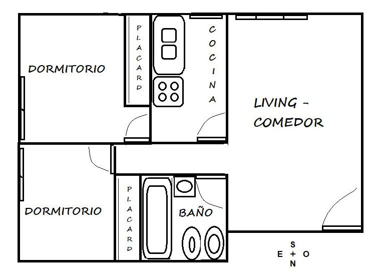 3 ambientes cerca parque chacabuco y subte listo p/ mudarse