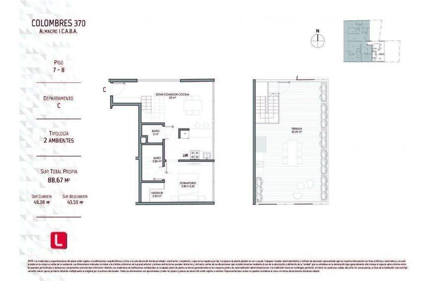 3 ambientes | colombres al 300