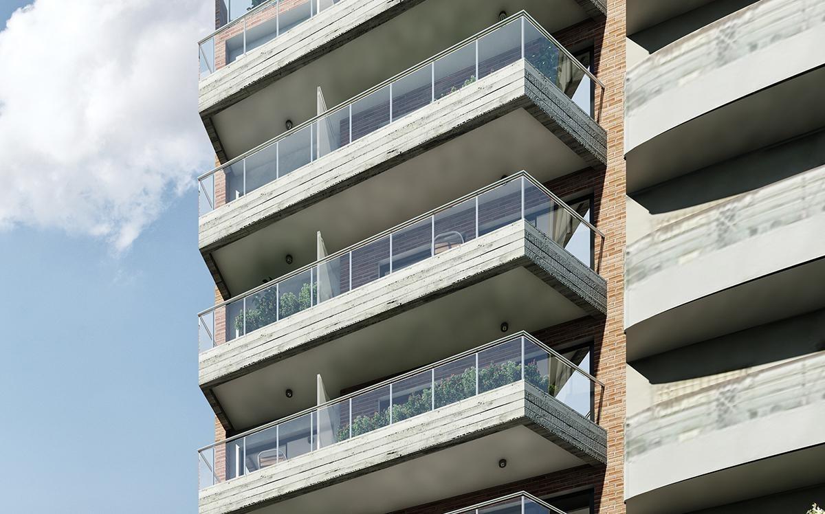 3 ambientes con balcón en construcción en parque patricios