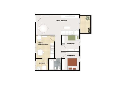3 ambientes con cochera