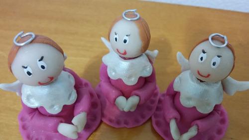 3 angel rosa souvenirs adorno torta