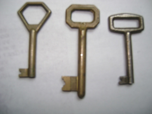 3 antiguas llaves de mueble antiguo decoracion xi-110