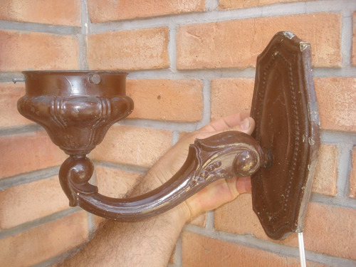 3 antiguos apliques de bronce electrificados-precio x c/uno
