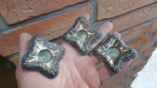 3 antiguos repuestos de candelabro