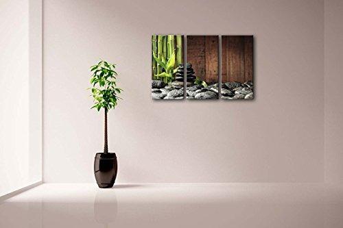 3 arte de la pared del panel concepto del balneario verde a