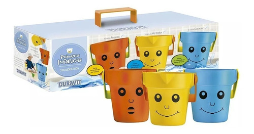 3 baldecitos para jugar con agua duravit primera infancia