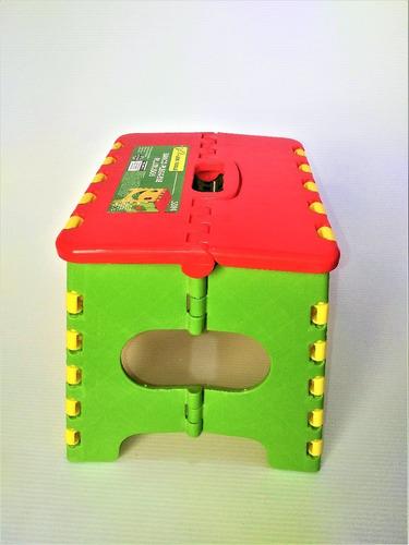 3 banco banquito niños plegable alto 22cm resiste hsta 100kg