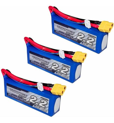 3 baterias lipo 2200mah 3s + 1 carregador de bateria imax b3