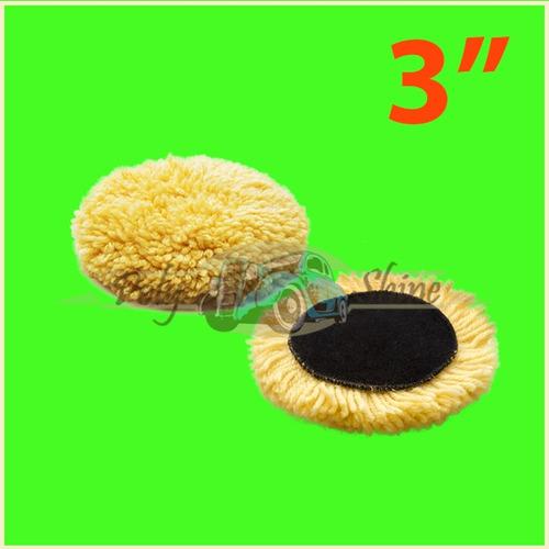3 boinas lã 3 polegadas agressiva + macia + normal