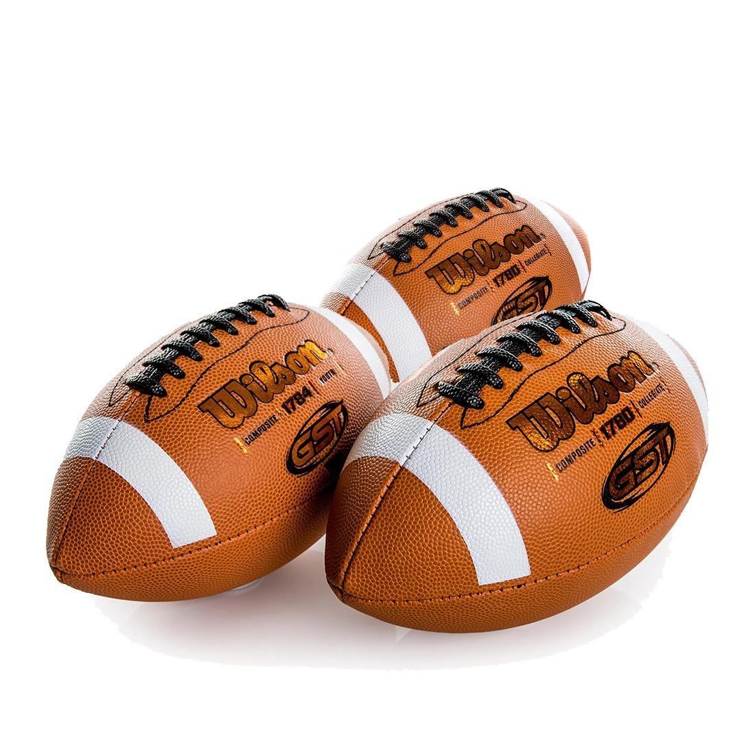 3 bolas futebol americano gst composite oficial nfl - wilson. Carregando  zoom. d0b9311ce40a3