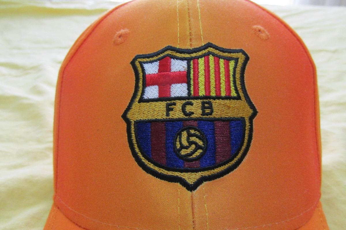 3 Bonés Oficiais F C Barcelona Sem Uso (com Etiqueta) - R  120 c3d02f3a825