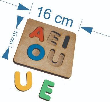 3 brinquedo tabuleiro encaixe alfabeto numero vogais