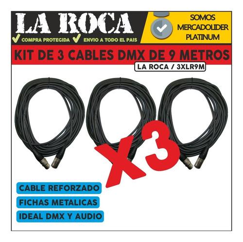 3 cable xlr dmx canon para microfono canon 9 metros la roca