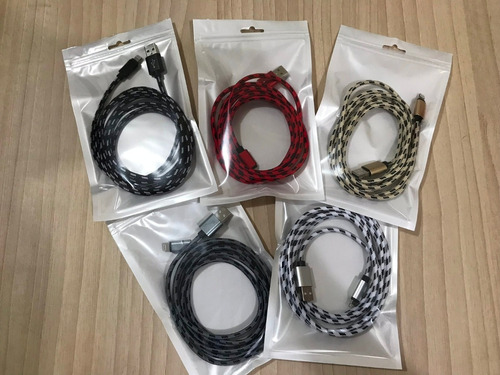 3 cables usb iphone 2 metros 5 5s 6 6s 7 8 apple