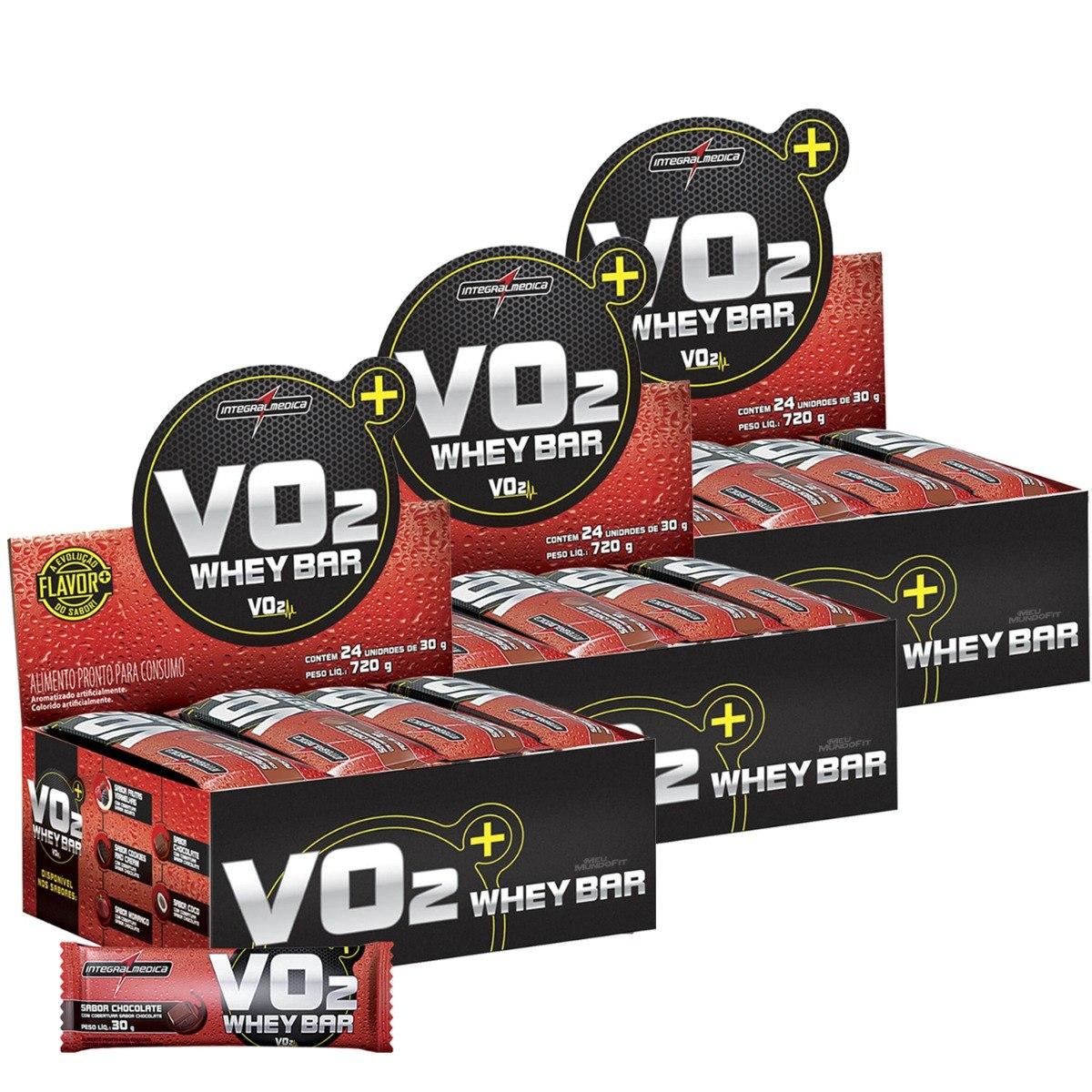 9cfbee22d 3 caixas vo2 whey bar 24 barras - integralmédica - sabores. Carregando zoom.