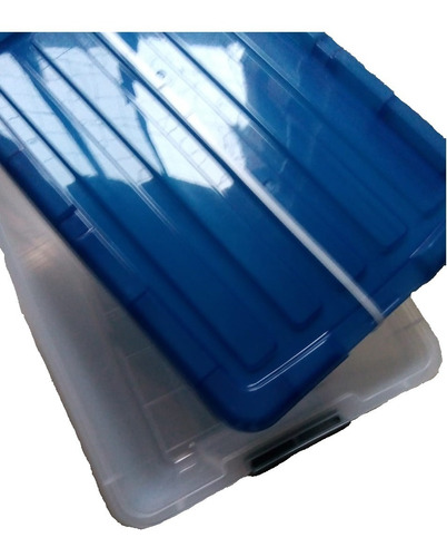 3 cajas plásticas para almacenar marca iris cap. 42 litros