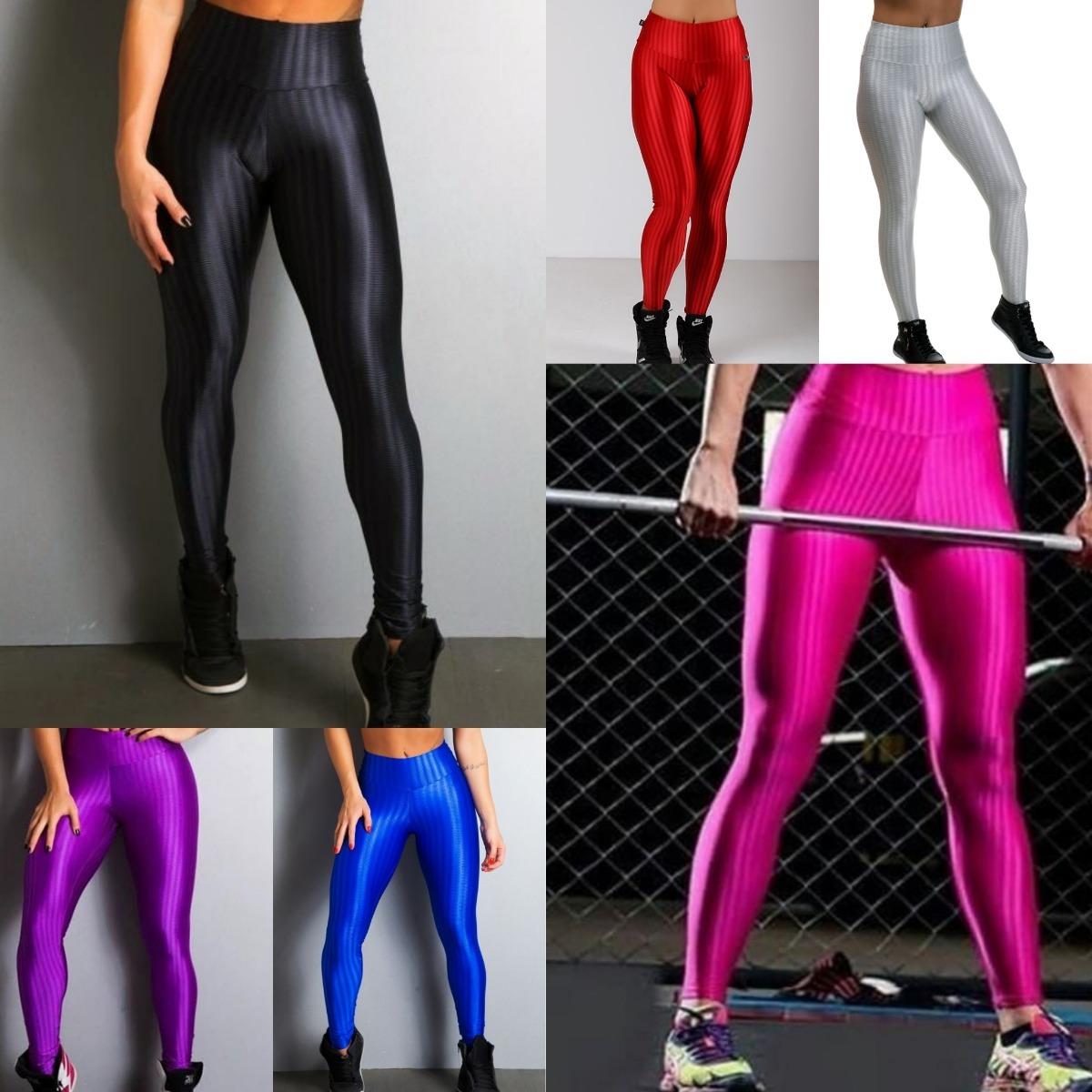 72b439666 3 Calça Legging Leg Fitness 3d Cirre Academia Fit + Brinde - R  115 ...