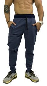 5c9c224a8906cd 3 Calça Moletom Masculina Abrigo Swag Slim Fit Moleton Bolso