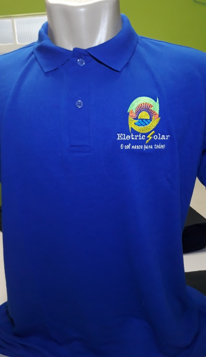 35f257686d 3 camisa polo uniforme bordado personalizada frente e costas. Carregando  zoom.