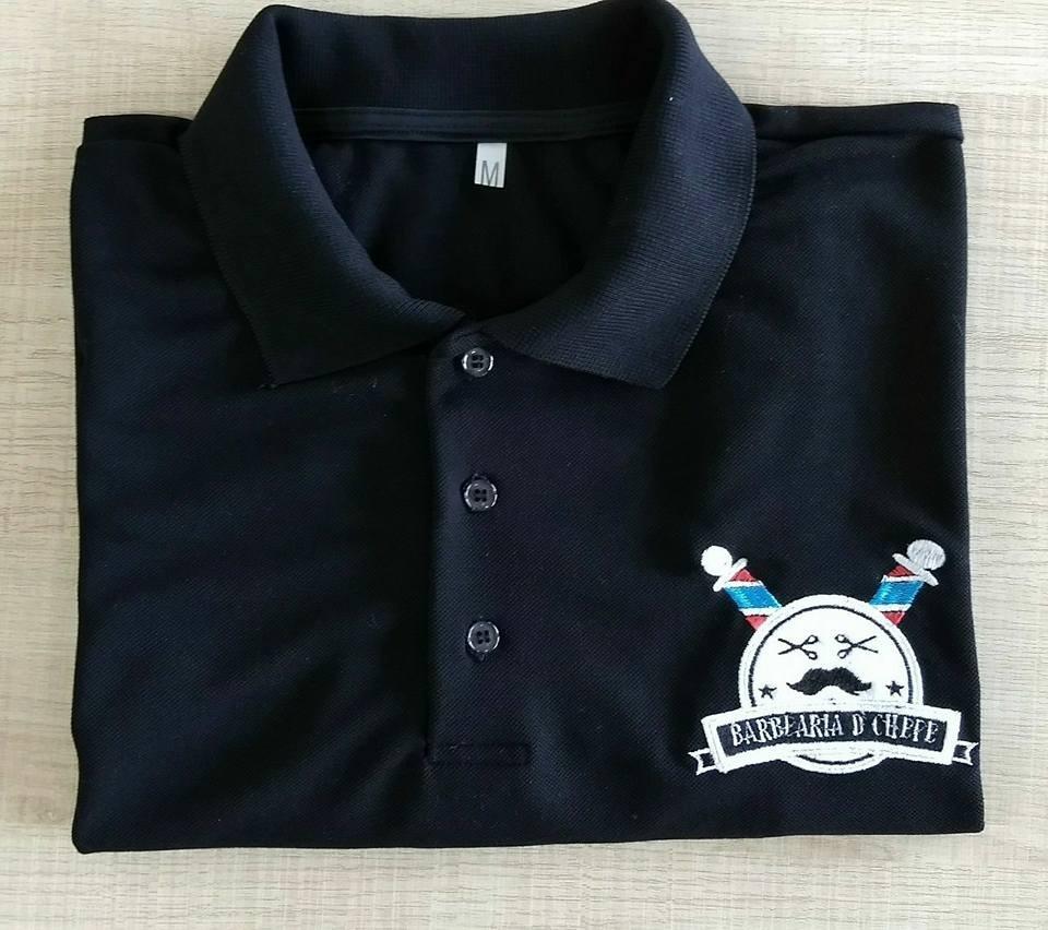 244470789bf32 3 camisa polo uniforme personalizado bordado frente e costa. Carregando zoom .