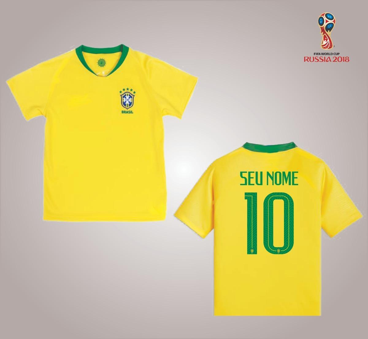 1f5f0271cfbb6 3 Camisas Da Seleção Personalizada Frete Grátis - R  179
