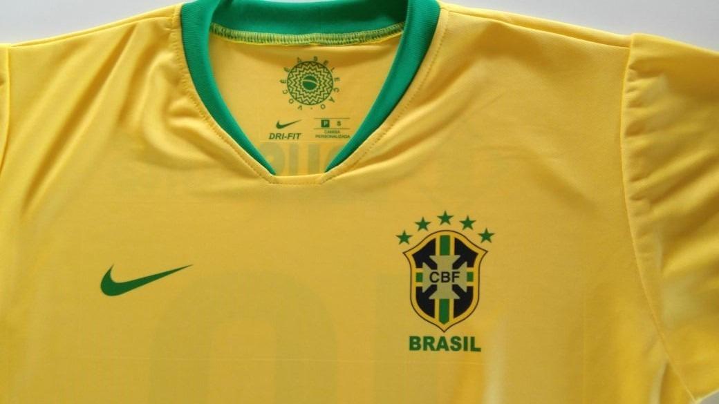 3 Camisas Da Seleção Personalizada Frete Grátis - R  179 bca501aa9c7b9