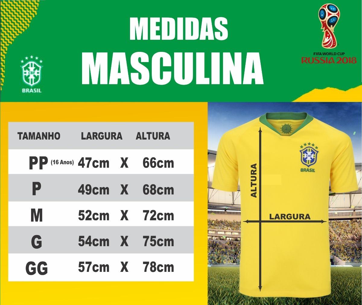 3 camisas da seleção personalizada frete grátis. Carregando zoom. ff473c46b503c
