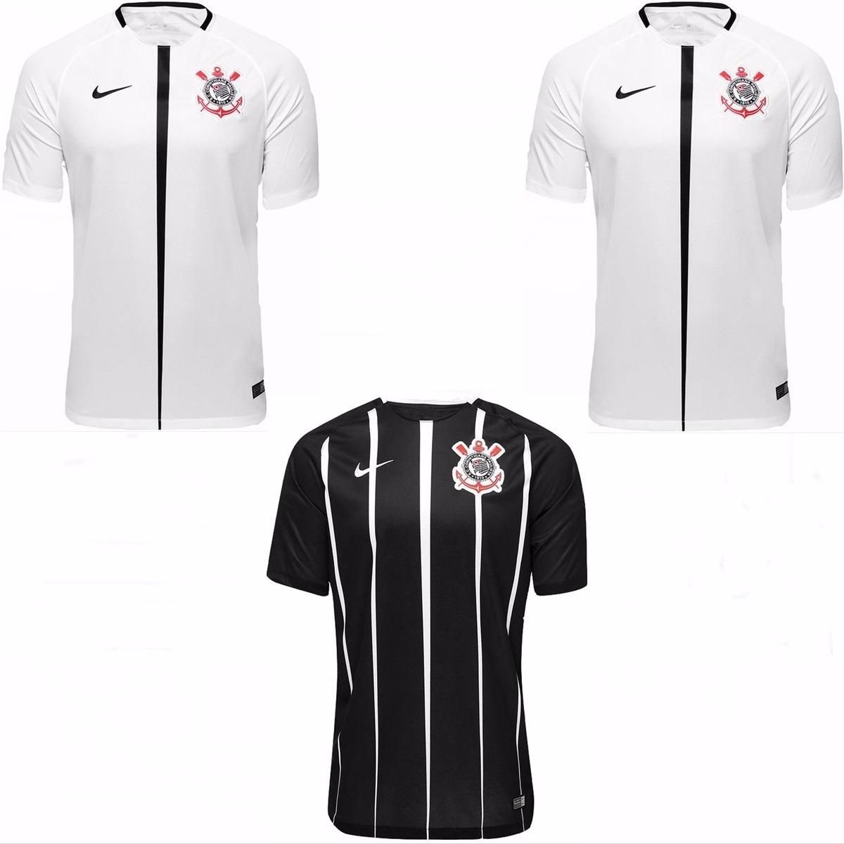 3 camisas do corinthians uniforme 1 e 2 promoção 2017. Carregando zoom. 2039b7f959dd8