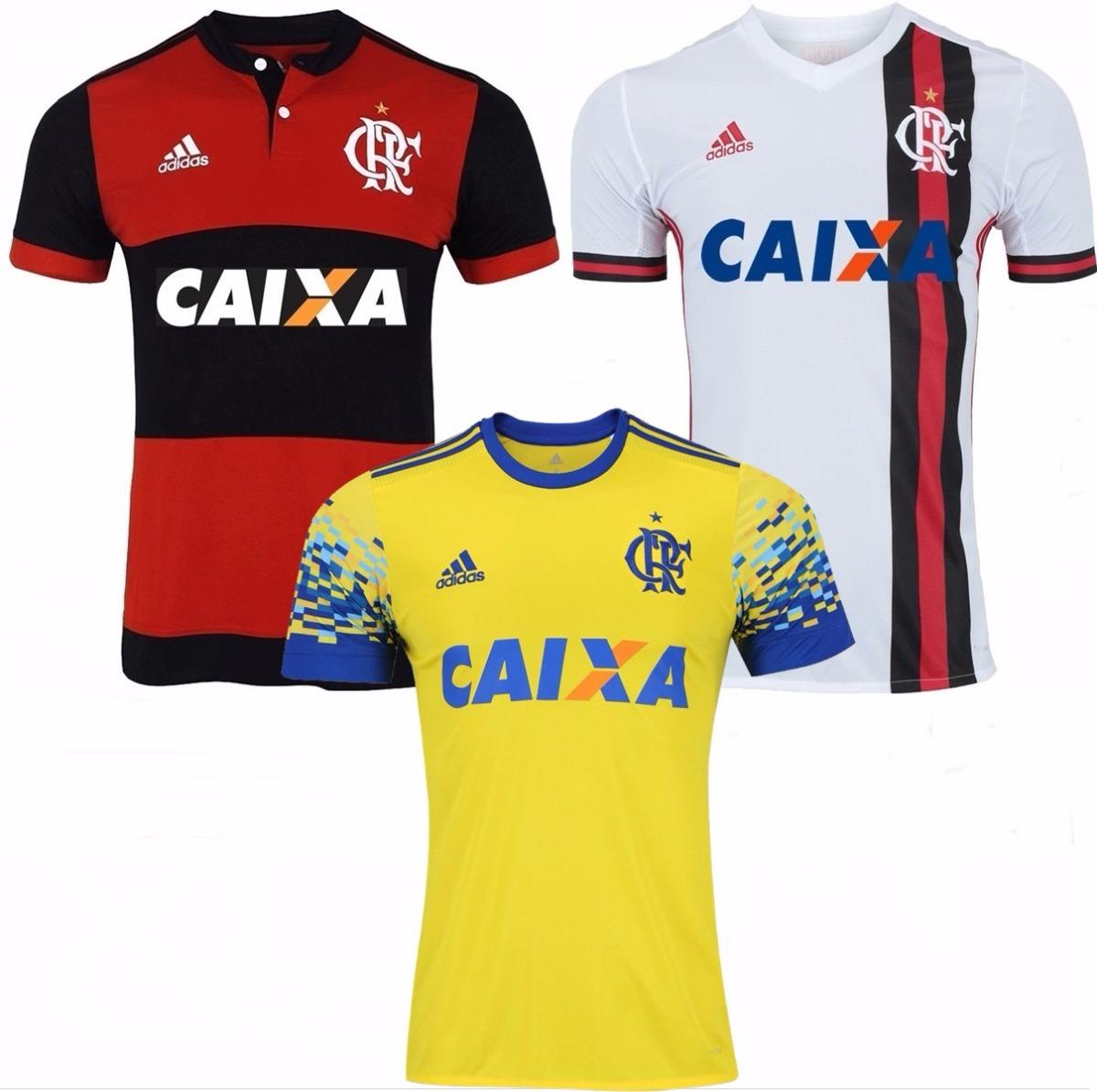 4370fdbceaee8 3 camisas do flamengo 2018 uniforme 1 e 2 promoção f gratis. Carregando  zoom.