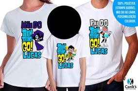 a30e07285c Jovens Titans Cosplay - Camisetas Manga Curta para Meninos Branco no  Mercado Livre Brasil