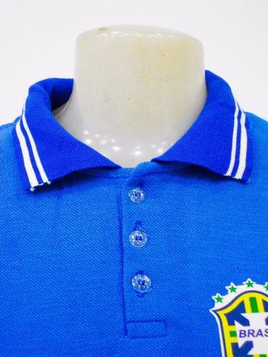 3 camisas polo feminina brasil seleção brasileira baby look