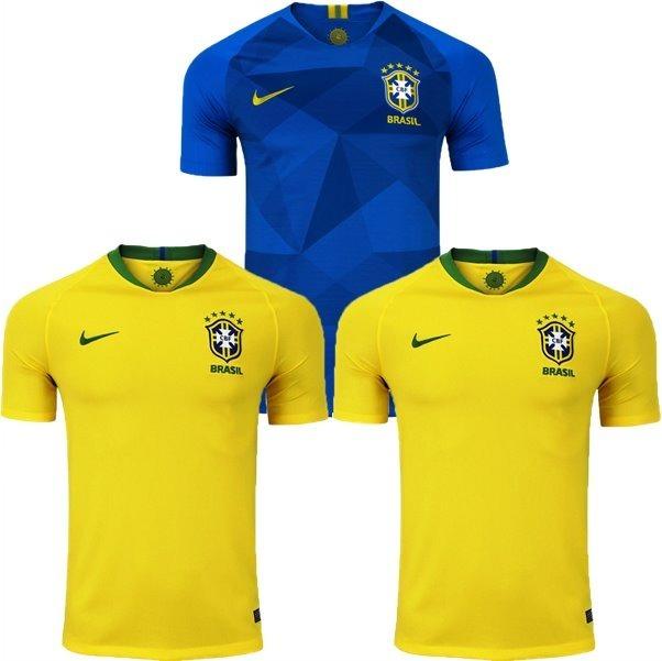 3c4e9ed06d 3 Camisas Seleção Brasileira Futebol 2018 Copa Promoção 40% - R  184 ...