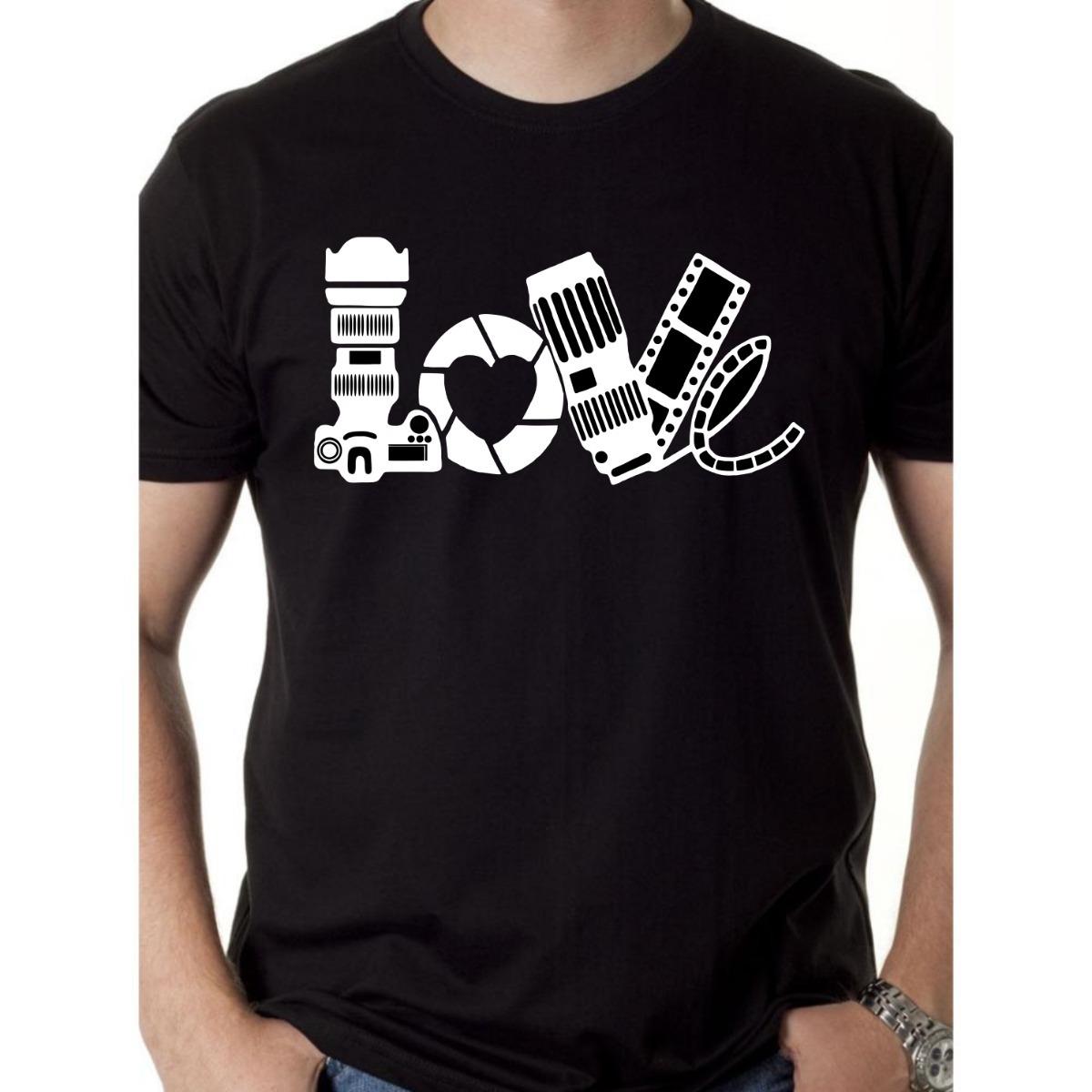 653a899f5d 3 camiseta personalizada love fotografia. Carregando zoom.