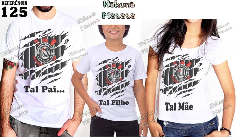3 camisetas corinthians tal pai tal filho camisas futebol. Carregando zoom. 2add0f13c0272