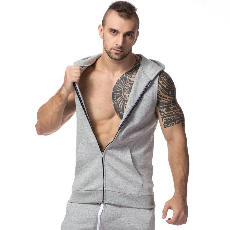 3 camisetas regata machao colete masculina capuz ziper bolso. Carregando  zoom. 16164ab05fd