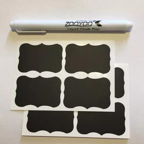 3 caneta giz líquido branco para adesivo lousa + 10 cartelas