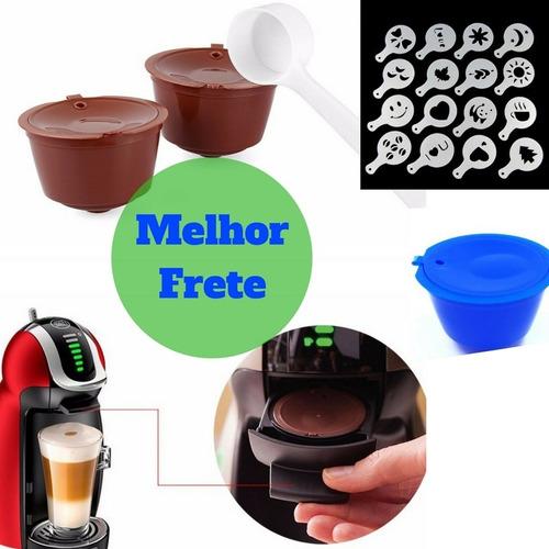 3 cápsulas kit dolce gusto reutilizável café +gratis 1 brind