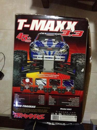 3 carros traxxas nitro rustler, jatto 3.3 y tmaxx 3.3