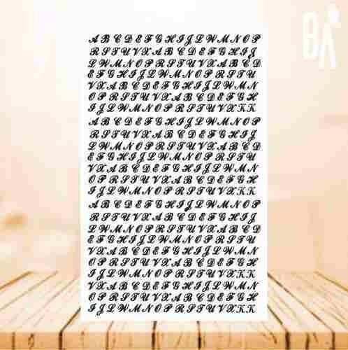 3 cartela adesivos tatuagem solar / letra / fita estrela