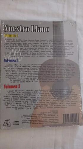 3 cds de colección nuestros llano música venezolano