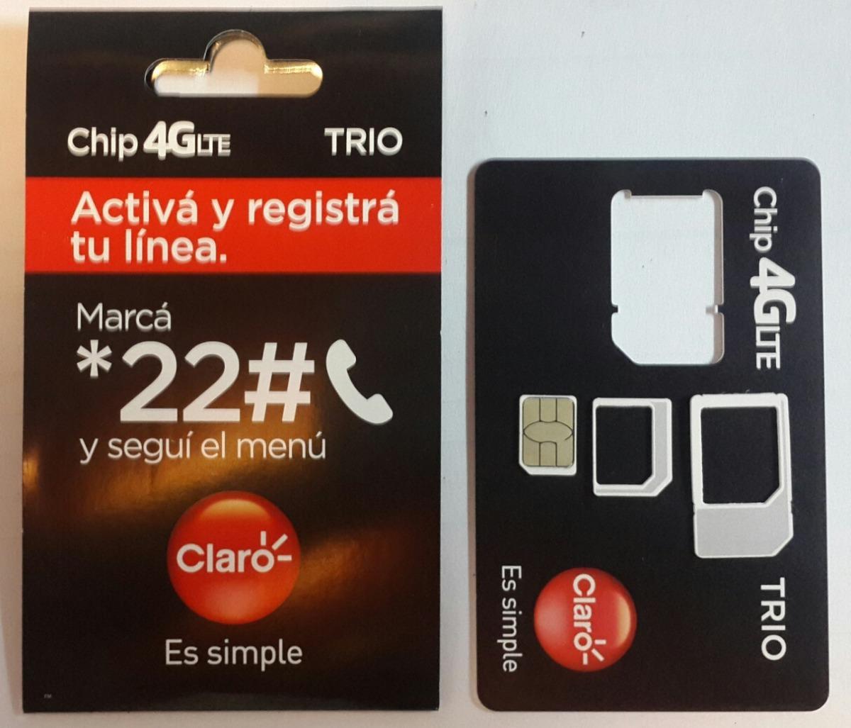 9c5594d6ad8 3 Chip Claro X Mayor - $ 11,00 en Mercado Libre