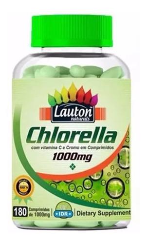 3 clorella 1000mg 180 comprimidos lauton - frete grátis