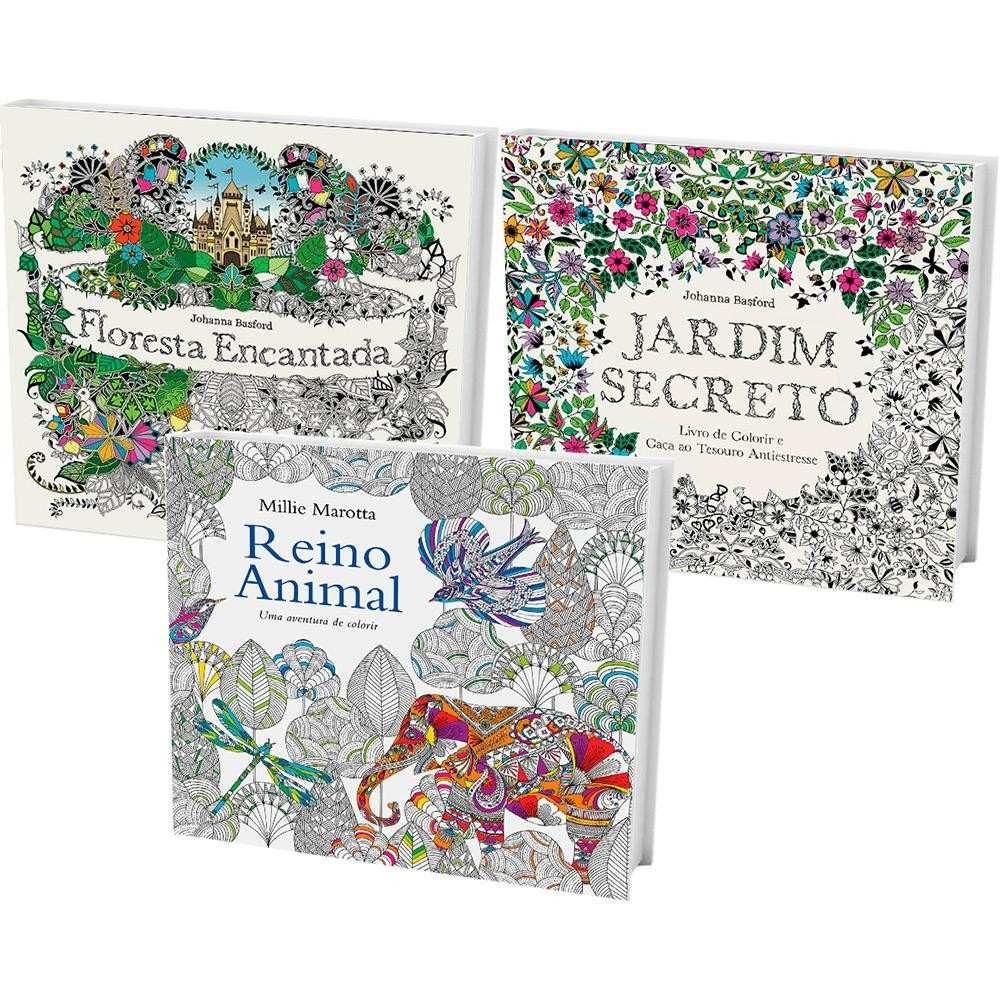 3 colorir jardim secreto floresta encantada reino animal r 58