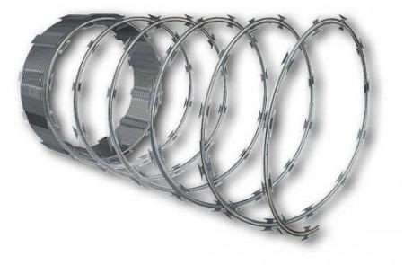 3 concertina cerca ouriço arame farpado 45cm 25mts clips