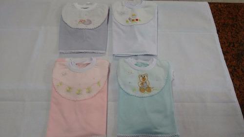 3 conj pagão 3pçs - bebê (várias cores) 0 a 3 meses