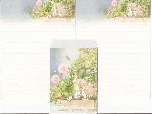 3 conjuntos de papéis de carta amy & tim - lote 04