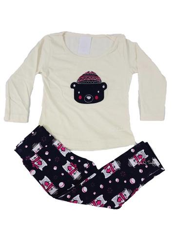 3 conjuntos infantil feminino roupa menina meia estação top